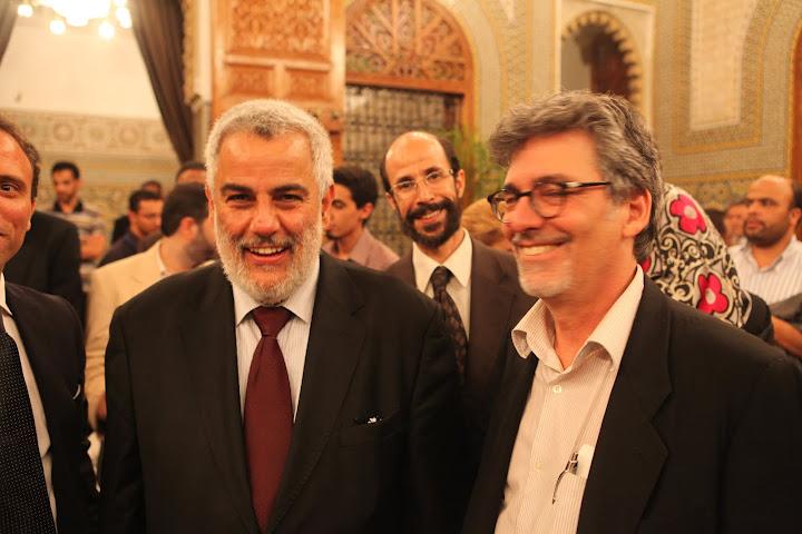 Ofer Bronchtein with Abdelillah Benkirane - Prime Minister of Morocco