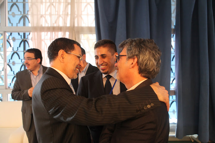 Ofer Bronchtein with Moroccan Minister of Foreign Affairs Saad-Eddine Al-Othmani