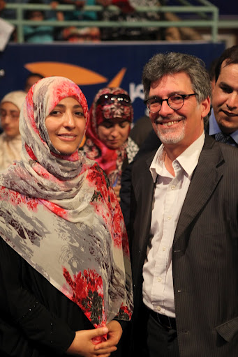 Ofer Bronchtein with Tawakkul Karman - Nobel peace prize winner